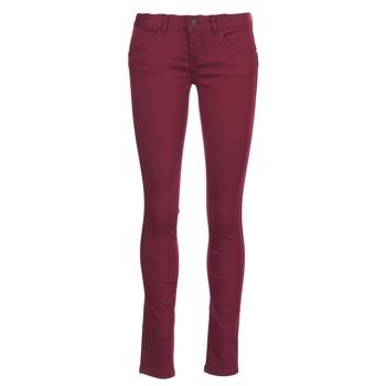 tekstylia Damskie Spodnie z pięcioma kieszeniami Only LUCIA BORDEAUX