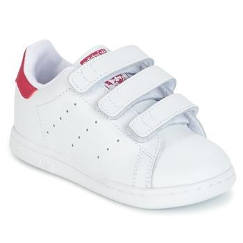 Buty Dziewczynka Trampki niskie adidas Originals STAN SMITH CF I Biały / Różowy
