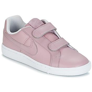 Buty Dziewczynka Trampki niskie Nike COURT ROYALE CADET Różowy