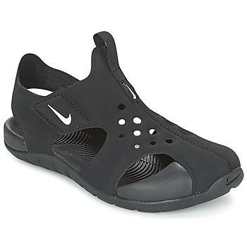 Buty Chłopiec Sandały Nike SUNRAY PROTECT 2 CADET Czarny / Biały