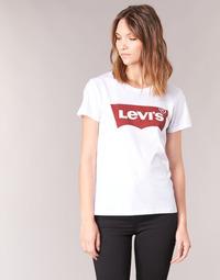 tekstylia Damskie T-shirty z krótkim rękawem Levi's THE PERFECT TEE Biały