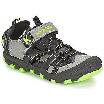 Buty Chłopiec Sandały Kangaroos KANGASPEED 2068 Czarny / Zielony