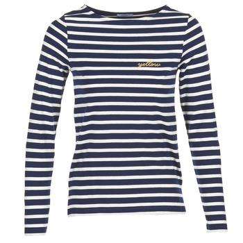 tekstylia Damskie T-shirty z długim rękawem Betty London IFLIGEME Marine / Biały