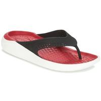 Buty Japonki Crocs LITERIDE FLIP Czarny / Czerwony