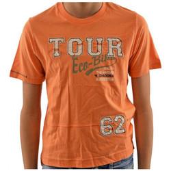 tekstylia Dziecko T-shirty z krótkim rękawem Diadora  Pomarańczowy