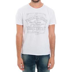 tekstylia Męskie T-shirty z krótkim rękawem Fred Mello FMCLA99TG_BIANCO Blanco