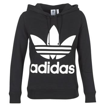 tekstylia Damskie Bluzy adidas Originals TREFOIL HOODIE Czarny