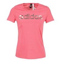 tekstylia Damskie T-shirty z krótkim rękawem adidas Performance FOIL LINEAR Różowy