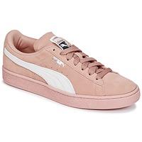 Buty Damskie Trampki niskie Puma SUEDE CLASSIC W'S Różowy / Biały