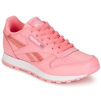Buty Dziewczynka Trampki niskie Reebok Classic CLASSIC LEATHER SPRING Różowy