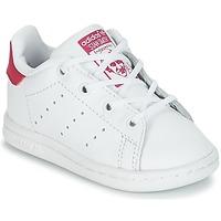Buty Dziewczynka Trampki niskie adidas Originals STAN SMITH I Biały / Różowy