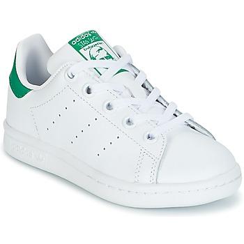Buty Dziecko Trampki niskie adidas Originals STAN SMITH C Biały / Zielony