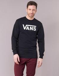 tekstylia Męskie T-shirty z długim rękawem Vans VANS CLASSIC Czarny