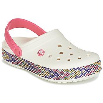 Buty Damskie Chodaki Crocs CROCBAND GALLERY CLOG Biały / Różowy