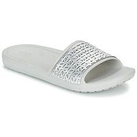 Buty Damskie klapki Crocs SLOANE GRAPHIC ETCHED SLIDE W Biały / Argenté