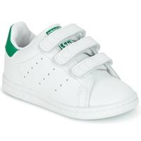 Buty Dziecko Trampki niskie adidas Originals STAN SMITH CF I Biały / Zielony