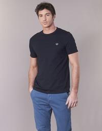 tekstylia Męskie T-shirty z krótkim rękawem Fred Perry RINGER T-SHIRT Marine