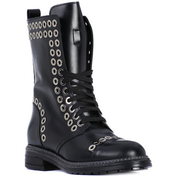 Buty Damskie Low boots Albano TRONCHETTO VITELLO Nero