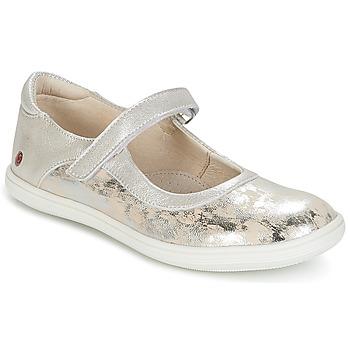 Buty Dziewczynka Baleriny GBB PLACIDA Beżowy / Argenté