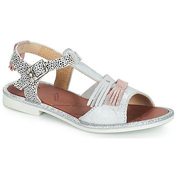 Buty Dziewczynka Sandały GBB MARIA Srebrny / Biały