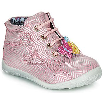 Buty Dziewczynka Buty za kostkę Catimini SALAMANDRE Różowo-srebrny