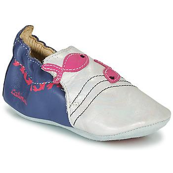 Buty Dziewczynka Obuwie domowe Catimini SIRENE Biały / Marine / Różowy