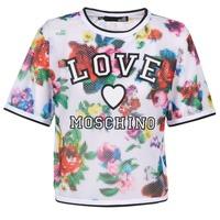 tekstylia Damskie Topy / Bluzki Love Moschino W4G2801 Biały / Wielokolorowe