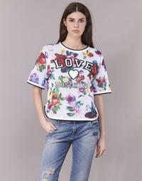 tekstylia Damskie Topy / Bluzki Love Moschino W4G2801 Biały / Wielokolorowy