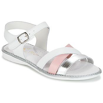 Buty Dziewczynka Sandały Citrouille et Compagnie IZOEGL Biały / Różowy / Argenté
