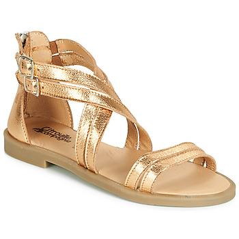Buty Dziewczynka Sandały Citrouille et Compagnie IMOURAT Złoty