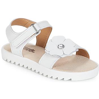 Buty Dziewczynka Sandały Citrouille et Compagnie ILODO Biały