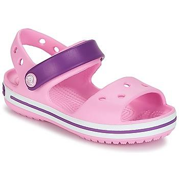 Buty Dziewczynka Sandały Crocs CROCBAND SANDAL Pink / Purple