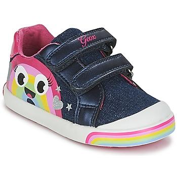Buty Dziewczynka Trampki niskie Geox B KILWI G. C Jeans / Różowy