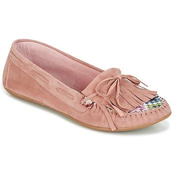 Buty Damskie Mokasyny Ippon Vintage MOC-WAX-ROSE Różowy