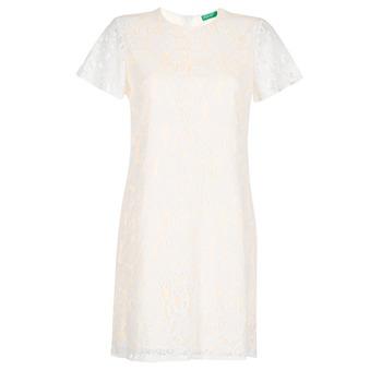 tekstylia Damskie Sukienki krótkie Benetton PRISTOUC Biały