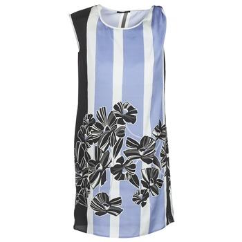 tekstylia Damskie Sukienki krótkie Sisley LAPOLLA Niebieski / Biały / Czarny