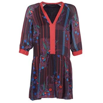 tekstylia Damskie Sukienki krótkie Sisley CEPAME Czarny / Czerwony / Niebieski