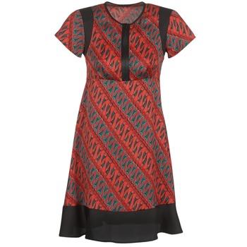 tekstylia Damskie Sukienki krótkie Sisley ZEBRIOLO Czerwony / Czarny