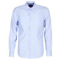 tekstylia Męskie Koszule z długim rękawem Sisley KELAPSET Niebieski / Clair