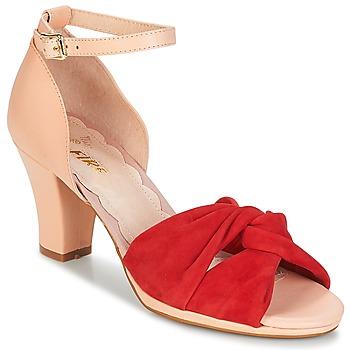 Buty Damskie Sandały Miss L'Fire EVIE Czerwony / Różowy