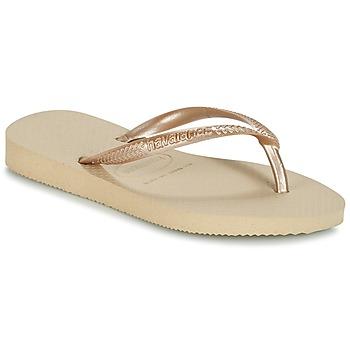 Buty Dziewczynka Japonki Havaianas SLIM Beżowy