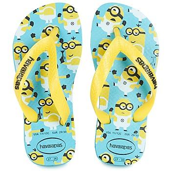 Buty Chłopiec Japonki Havaianas MINIONS Niebieski / Żółty