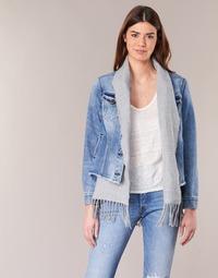 tekstylia Damskie Kurtki jeansowe Scotch & Soda XAOUDE Niebieski / Clair / Szary