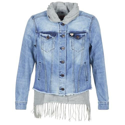 tekstylia Damskie Kurtki jeansowe Maison Scotch XAOUDE Niebieski / Clair / Szary
