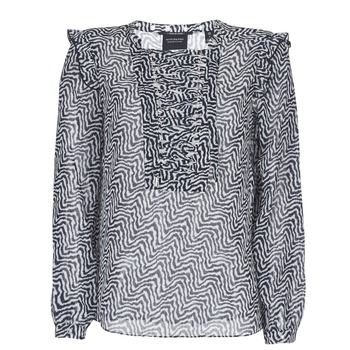 tekstylia Damskie Topy / Bluzki Maison Scotch OLZAKD Czarny / Biały