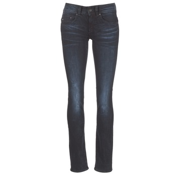 tekstylia Damskie Jeansy straight leg G-Star Raw MIDGE SADDLE MID STRAIGHT Niebieski