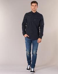 tekstylia Męskie Jeansy slim fit G-Star Raw 3301 SLIM Niebieski