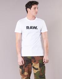 tekstylia Męskie T-shirty z krótkim rękawem G-Star Raw HOLORN R T S/S Biały