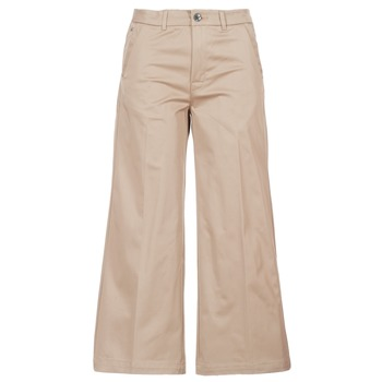 tekstylia Damskie Chinos G-Star Raw BRONSON HIGH LOOSE CHINO 7/8 WMN Beżowy
