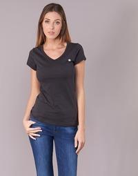 tekstylia Damskie T-shirty z krótkim rękawem G-Star Raw EYBEN SLIM V T WMN S/S Czarny